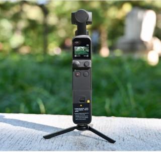 DJI 大疆 灵眸Osmo系列 口袋云台相机套餐 pocket 2相机+256内存卡+三脚架延长杆 +手机架+读卡器 黑色