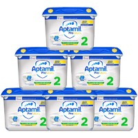 Aptamil 英国爱他美 白金版 婴幼儿奶粉 2段 800g*6罐