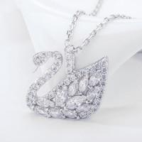 双11预售、历史低价 : SWAROVSKI 施华洛世奇 5296469 榄尖形羽翼天鹅项链