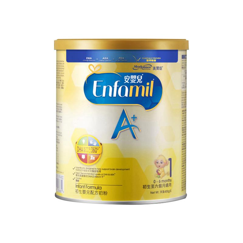 MeadJohnson Nutrition 美赞臣 安婴儿系列 A+婴儿配方奶粉 1段 400g(0-6个月)港版