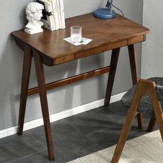JIAYI 家逸 实木书桌电脑桌 胡桃色80cm 单桌