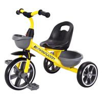 MAnA 魔力小虫 儿童三轮自行车 米洛黄色