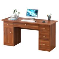 亿家达 台式电脑桌 一门五抽 古檀木色 120cm