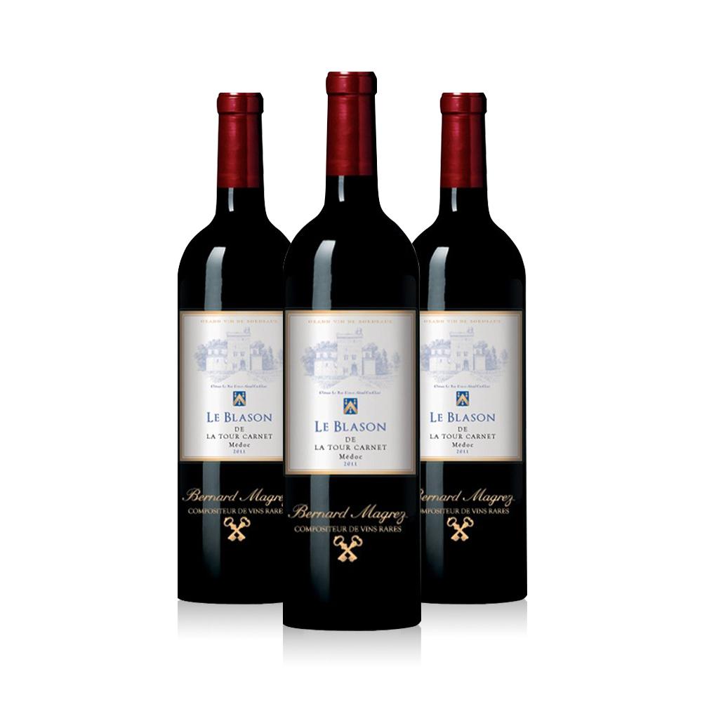 双十一预售:【直营】法国拉图嘉利徽纹干红葡萄酒3支装正品进口梅多克宴请