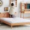 VISAWOOD 维莎原木 C02004 现代简约儿童床 1200*2000mm 原木色 不带储物空间