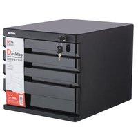 有券的上 : M&G 晨光 ADM95297 四层带锁文件柜 黑色 *2件 +凑单品