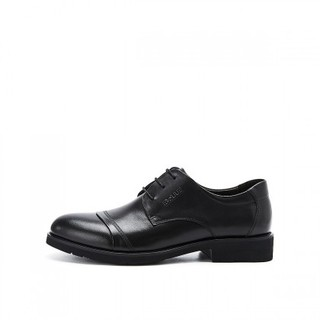 BeLLE 百丽 男士牛皮圆头低跟系带正装皮鞋3UX01CM5