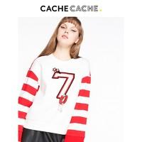 Cache Cache 捉迷藏 7620007123 女士撞色条纹钉珠卫衣