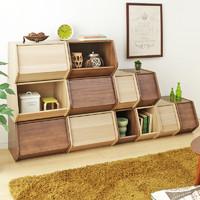 爱丽思IRIS日本简约木质收纳柜整理储物窄柜卧室书柜置物柜爱丽丝