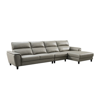 CHEERS 芝华仕 科技布四人位转角沙发 面向沙发左角位 浅灰色