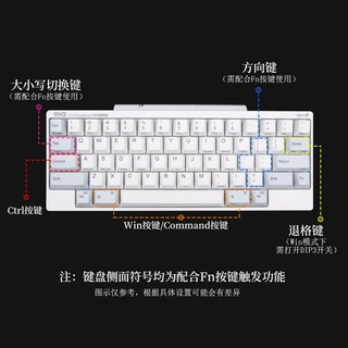 HHKB Professional HYBRID Type-S 双模静音版键盘 白色无刻