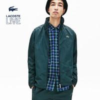 LACOSTE法国鳄鱼男装秋季时尚条纹休闲夹克外套男|BH4144