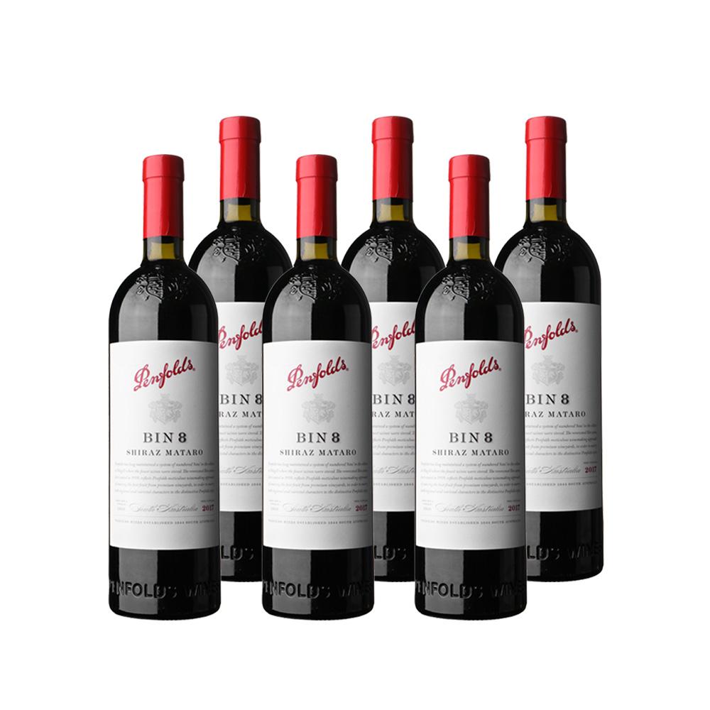 88VIP : 双十一预售:澳洲进口奔富BIN8干红葡萄酒六支整箱装-朋友聚会