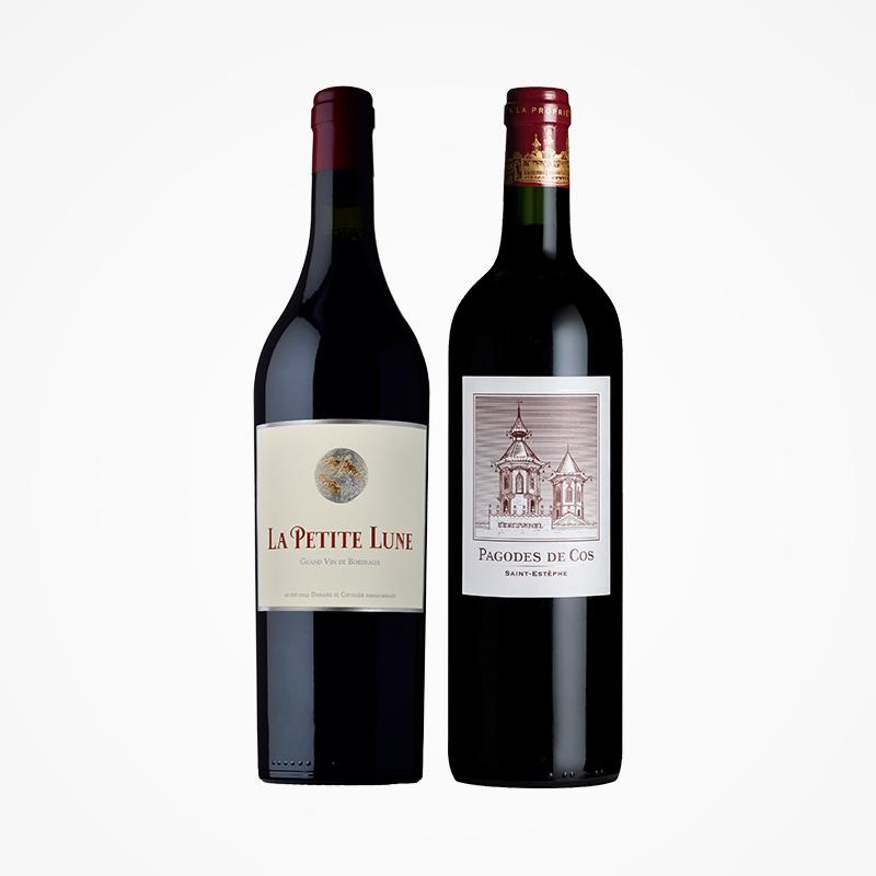 88VIP : 双十一预售:法国骑士庄园金月古堡/二级名庄爱士图尔原瓶进口红酒葡萄酒两支