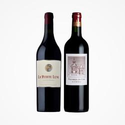 双十一预售:法国骑士庄园金月古堡/二级名庄爱士图尔原瓶进口红酒葡萄酒两支