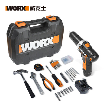 WORX 威克士 WX129.5 家用手电钻工具套装 59件套