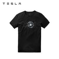 TESLA 特斯拉 Cybertruck防弹图案 男士T恤