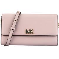 MICHAEL KORS 迈克·科尔斯 MK女包 MOTT系列粉色皮质女士单肩斜挎包 32T7GOXC4L SOFT PINK