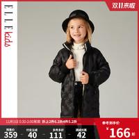 预售ELLE Kids童装女童轻薄羽绒服中长款冬装加厚儿童保暖外套新