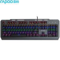 雷柏GK500黑色黑轴混彩背光游戏机械键盘复古朋克键帽有线外接键盘台式笔记本电脑办公家用104键电竞
