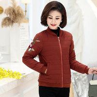 2020冬装新款棉衣年轻女装秋冬季时尚修身纯色棉袄立领棉服外套+凑单品