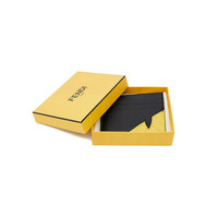 芬迪 FENDI 男士黑色黄色织物(涂层除外)眼睛卡片套卡包 7M0164 A8V7 F0R2A