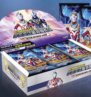 Kayou 卡游 宇宙英雄奥特曼系列 经典普闪卡 20包/160张 含20张闪卡 有铁盒
