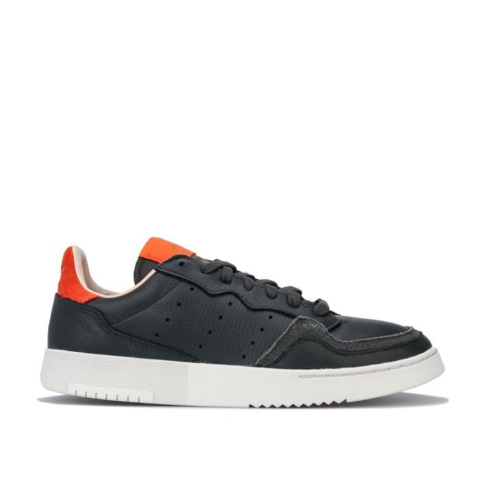 adidas 阿迪达斯 Supercourt 男士休闲运动鞋 EF9182 黑橙 40.5