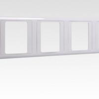 SIEMENS 西门子 vista 远景系列 5TG0503-1CC1 墙壁开关五联边框 雅白 86*430mm