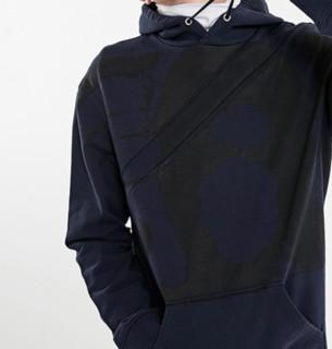 MLMRoutletsv 男士纯棉泼墨拼接拉链连帽卫衣219133503 海军蓝S
