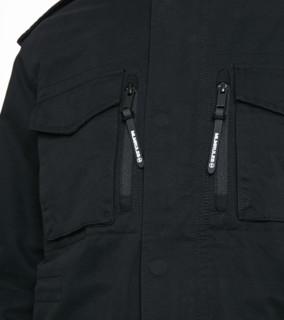 MLMRoutletsv 男士纯棉立领工装多口袋休闲外套219121544 黑色XS
