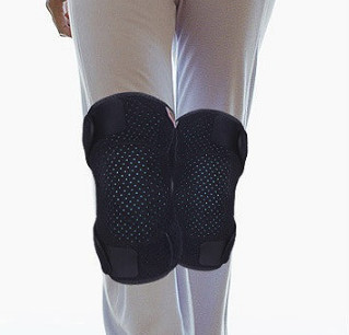 辽远 透气吸汗理疗护膝 黑色 2只装