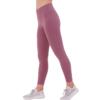 班帝诺 女士纯色高腰提臀束腿瑜伽裤Y8001 梅洛红S