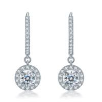Zocai 佐卡伊珠宝 E01362 女士摩天轮18k白金钻石耳环