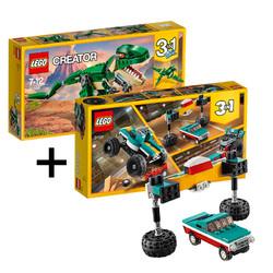 LEGO 乐高 创意百变系列 31058 凶猛霸王龙+31101 怪兽卡车