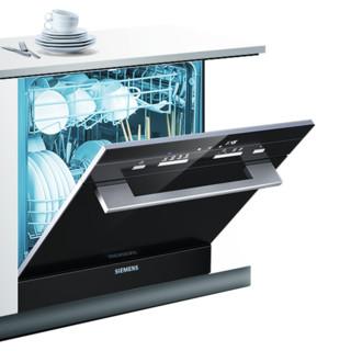SIEMENS/西门子 进口嵌入式家用全自动洗碗机除菌8套SC454B01AC