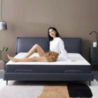 8H DT3 床具套装 Milan智能电动床Pro+MR 零度绵床垫套装 米兰灰蓝 1.5m