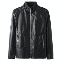 La Chapelle 拉夏贝尔 男士皮衣外套  可选加绒