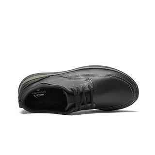Clarks 其乐 Garratt Street系列 男士牛皮革休闲皮鞋 261487617 黑色 40