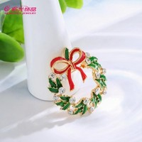 新光饰品 圣诞树圣诞花环胸针