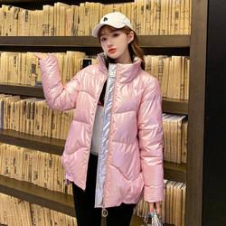 2020新款棉服女学生冬季棉袄潮冬韩版宽松面包服短款棉衣亮皮外套