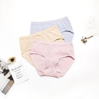 花季娜  女士内裤海藻纤维内裤中腰收腹抗菌防霉一片式三角裤(3条装)