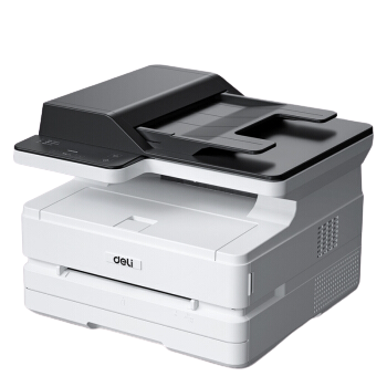deli 得力 三合一云打系列 M2500ADW 黑白激光打印机 白色