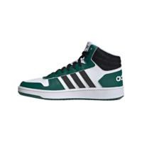 adidas Originals Hoops 2.0 男士休闲运动鞋 FW5995 白/黑/绿 39