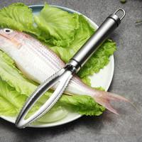 304不锈钢加厚鱼鳞刨刮鳞器家用手动去鱼鳞神器厨房杀鱼刷刀工具