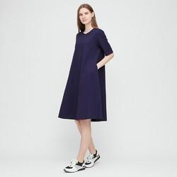 女装 丝光棉A字型连衣裙(五分袖) 430893