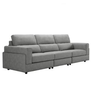 KUKa 顾家家居 2055 简约现代科技布沙发 三人位