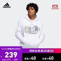阿迪达斯官网 adidas 三叶草 TREF HDY 男装运动套头衫FQ3574 如图 M *2件