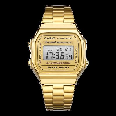正品卡西欧手表男女CASIO中性金色电子表时尚复古防水A168WG-9W