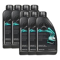 奔驰(benz)4S店原厂AMG高性能润滑油 全合成发动机油0W-40 B180B200C200C180C250E200E260GLA45 1L×7瓶套餐